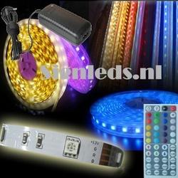 RGB ledstrip set 5 meter met trafo en controller ST10