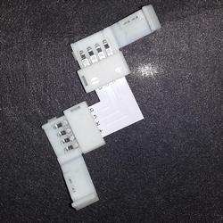 Hoekstukje met klemmem om ledstrip SMD5050 te koppelen  per stuk