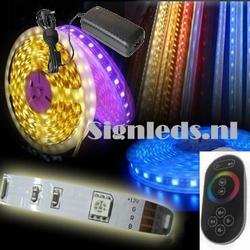 5 Mtr RGB60 ledstrip met trafo en touch controller ST20W24  complete set