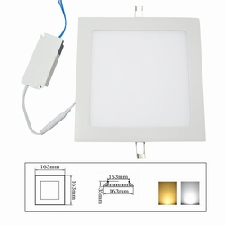 Panellight 12watt incl driver 220V wit 4250K