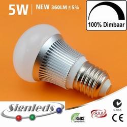 E27 COB ledlamp E27 driverless Dimbaar