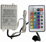 IR RGB controller 24 knoppen met directe keuze's per stuk