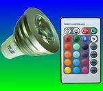 3 Watt RGB spot met afstandsbediening fitting GU10