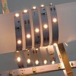 Ledstrip Warm-wit ± 3500K smd3528 met 30 leds  1meter per meter