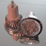 GU10 4x1Watt  ledspot Warm-wit 90-260 Volt per stuk