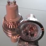 GU10 3x1Watt  ledspot Warm-wit  90-260 Volt per stuk