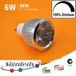 GU10 Driverless dimbare 6 watt ledspot