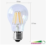 Filament Led lamp 6watt 230volt dimbaar